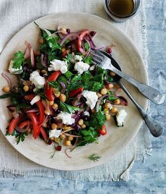 Persian-style chickpea salad // Gourmet Traveller