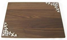Wood Challah Board with Metal Accents by Quest Collection