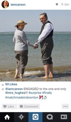 "Mr. Carson | Community Post: If The Characters From ""Downton Abbey"" Had Instagram"