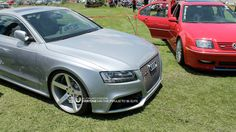 Audi RS5 on Vossen CV3's in Matte Silver