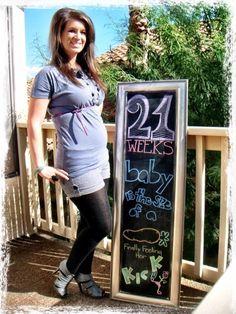 Chalkboard Pregnancy 21 Weeks: Thumpity Thump