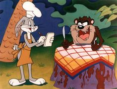 Bugs Bunny and Tasmanian Devil - We're ravenous. It means different things to different people. For some, it's religious. For some, family, and/or the Easter bunny o… Looney Tunes Characters, Classic Cartoon Characters, Looney Tunes Cartoons, Favorite Cartoon Character, Classic Cartoons, Good Cartoons, Best Cartoons Ever, Old School Cartoons, Bugs Bunny