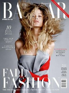 Harper's Bazaar India September 2014 Cover (Harper's Bazaar India) Sebastian Faena - Photographer Carine Roitfeld - Fashion Editor/Stylist