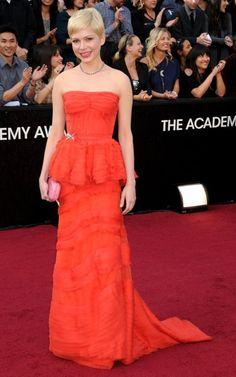 Michelle Williams en Louis Vuitton aux Oscars 2012