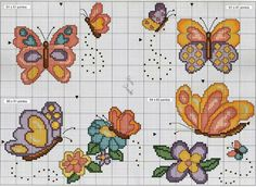 My Corner: Graphics in Cross Stitch . Butterfly Cross Stitch, Cross Stitch Heart, Cute Cross Stitch, Beaded Cross Stitch, Cross Stitch Animals, Cross Stitch Cards, Cross Stitching, Cross Stitch Embroidery, Cross Stitch Patterns