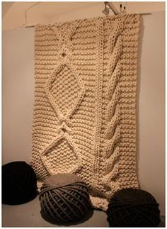 Knitted Rug. Try this with Wool-Ease Thick & Quick!