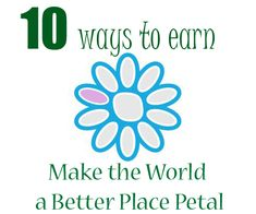 earn the make the world a better place petal (rose daisy petal)