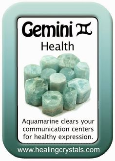 GEMINI HEALTH CARD: AQUAMARINE  http://www.healingcrystals.com/advanced_search_result.php?dropdown=Search+Products...&keywords=Aquamarine  Code HCPIN10 = 10% discount