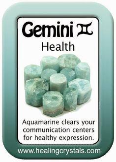 GEMINI HEALTH CARD: AQUAMARINE http://www.healingcrystals.com/advanced_search_result.php?dropdown=Search+Products...&keywords=Aquamarine Code HCPIN10 = 10% discount
