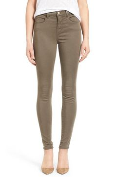 J Brand 'Maria - Luxe Sateen' High Rise Skinny Jeans available at #Nordstrom