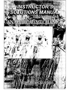 Solutions Manual Analytical Mechanics 7e Fowles - Documents