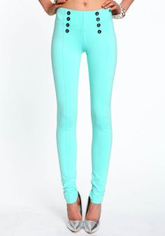 Mint high wasted leggings.  Adorbs.