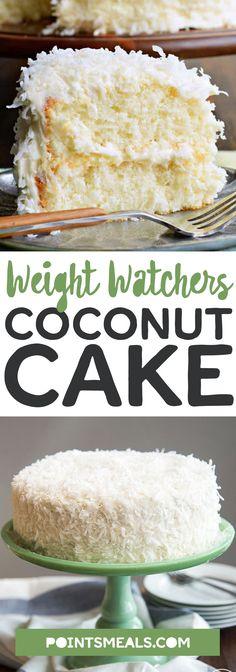 #weight_watchers Coconut Cake Recipe #dessert #cake