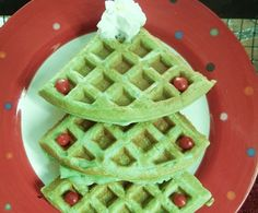 Christmas Tree Waffles -   Surprise your kids with these festive waffles on Christmas morning!  Tags: Christmas Breakfast | Christmas Recipe