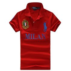 acheter high neck t-shirt hommes polo ralph lauren 2013 italy cotton milan  red Vêtements Ralph Lauren Pas Cher c0751f281d6