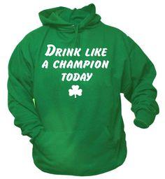 Funny Drink Like A Champion Today Shamrock St by SportsCrack