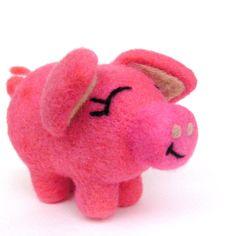 Soft and Sweet Felted Pig