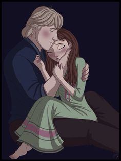 When Anna got nightmares about losing Kristoff forever, Kristoff is always there to comfort her.