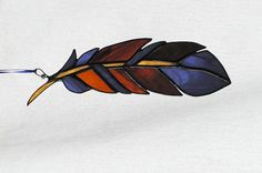 Hey, I found this really awesome Etsy listing at https://www.etsy.com/listing/286662927/feather-stained-glass-bluebrowns