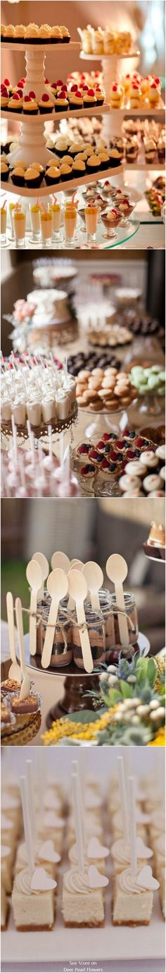 Top 20 Wedding Mini Desserts for 2019 Dessert Bar Wedding, Wedding Sweets, Dessert Bars, Dessert Table, A Table, Wedding Cakes, Mini Desserts, Cake And Cupcake Stand, Wedding Catering