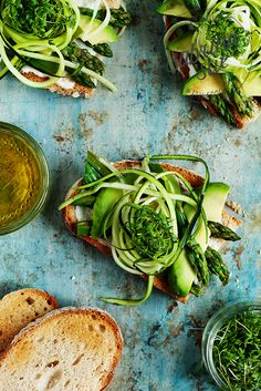 Avocado Asparagus Zucchini Sandwich