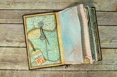 I printed page#28 Fancy Policy Envelope onto some old book pages of maps and other pages to make this simple and easy Travel/Art/Junk journal!! I show you ho...