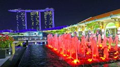 4K Singapore 2015 Marina Bay Sands & Fullerton @ night. LX100