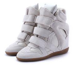 2014 Isabel Marant zapatillas de deporte de la cuña de las mujeres del  cuero genuino de bf6d1cc20ad