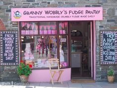 Granny Wobbly's Fudge Pantry in Tintagel, Cornwall