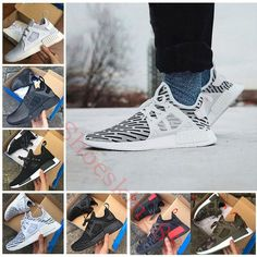 95b4fdb23e62b 2017 NMD XR1 Running Shoes Mastermind Japan Skull Fall Olive green Camo  Glitch Black White Blue zebra Pack men women sports shoes 36-45