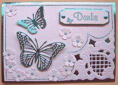 Ullis Bastelwerkstatt - very fancy card, love the metallic butterflies