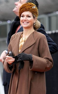 Princess Maxima looking chic as she launches a ship.