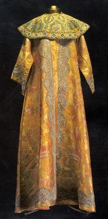 Kremlin Armoury. Moscow Kremlin Workshops, 1691 Axamite - Venice, XVIIth century Axamite, lace; weaving, plaiting Length 166,5 cm Belonged to Tsar Peter Alexeyevich. Inv. № ТК-2848