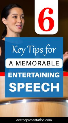 Would you like to give a speech that is both memorable and entertaining to your audience? You know what... It's doable, and you can do it! Check out these 6 key tips for a memorable entertaining speech and be on your way to nailing your next presentation.  #entertainingspeech #memorablespeech #tipsforentertainingspeech #publicspeakingtips