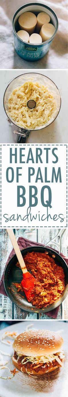 Hearts of Palm Vegan BBQ Sandwich – Gesundes Abendessen, Vegetarische Rezepte, Vegane Desserts, Vegan Foods, Vegan Dishes, Bbq Sandwich, Vegan Sandwiches, Whole Food Recipes, Cooking Recipes, Cooking Tips, Vegan Barbecue, Vegetarian Recipes