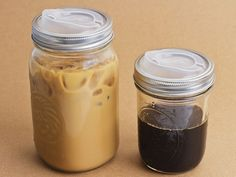 Turn mason jars into travel cups.