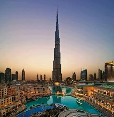 Burj Khalifa, stands at with 162 habitable floors in Dubai, United Arab Emirates. Burj Khalifa is currently the tallest building in the ~world~ Places Around The World, Oh The Places You'll Go, Places To Travel, Places To Visit, Around The Worlds, Dream Vacations, Vacation Spots, Beautiful Buildings, Beautiful Places