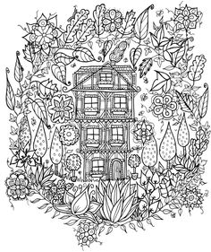 Little House In The Woods by WelshPixie...wouldn't this make an amazing appliqué quilt?!