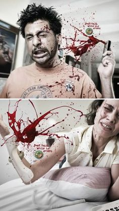 """Don't Text & Drive"" campaign is via India for the Bangalore Traffic Police by the Mumbai ad agency the Mudra Group"