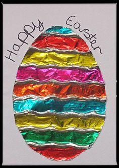 Zdjecia rzemieślnicze Cyna folia jajko Wielkanoc KARTY