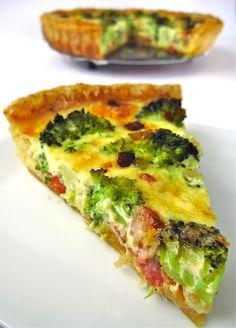 QUICHE DE BRECOL Y BEICON (broccoli & bacon quiche) #recetas