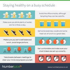 How to stay healthy on a busy schedule