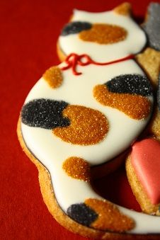 Calico cat decorated cookies - Farina - Fな生活