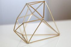 DIY Himmeli Geometric Sculpture | ashandcrafts.com  Arts connection for minerals and crystal structure