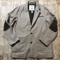 34862024ed01 Orvis Zambezi Twill Safari Hunting Jacket Blazer Leather Trim Men s 40L