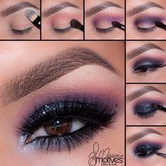 Smoky Eye Makeup Tutorial, Eye Tutorial, Eye Makeup Tips, Smokey Eye Makeup, Eyeshadow Makeup, Makeup Brushes, Makeup Ideas, Makeup Hacks, Glitter Makeup