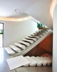 Villa MQ designed by Office O architects image © Tim Van de Velde #stairs #belgium www.amazingarchitecture.com ✔️…