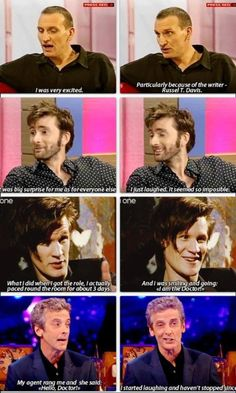 Reactions to landing the role of the Doctor :)