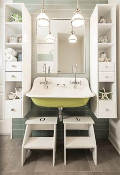 turquoise trough sink with rope mirror cottage bathroom bathrooms pinterest trough sink sinks and turquoise