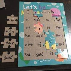 I cannot remember who i saw this amazing idea from, but we are focussing a lot on our sight words/tricky words this term! Kindergarten Reading, Preschool Learning, Kindergarten Classroom, Teaching Reading, Classroom Activities, Learning Activities, Preschool Activities, Kids Learning, Reading Games
